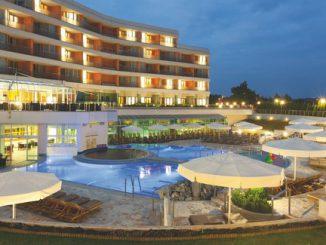 Slovenia, Moravske Toplice, Livada Hotel, swimming pool